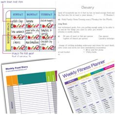 free printable weekly fitness goal tracker