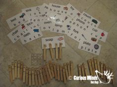 3 Letter Word Clothes Pin and Picture Activity