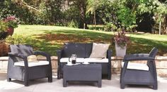 Corfu Set   Outdoor Furniture by Keter Find out more: http://www.keter.com/products/sa-store-corfu-triple/