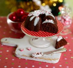 Miniature Christmas Chocolate Peppermint Bundt by CuteinMiniature