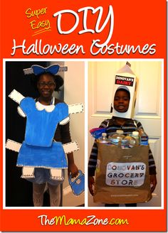 The MamaZone: Super Easy DIY Halloween Costumes-the paper doll!!