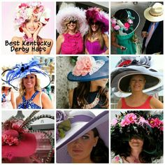 Some day, I would like to attend the Kentucky Derby...just so I can wear a hat, like one of these.