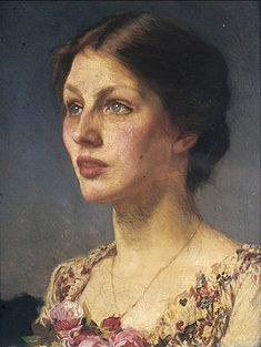 """Lady Beatrice"" c.1908 - Sir George Clausen (1852-1944)"