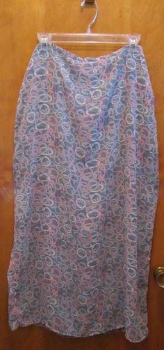 OLD NAVY Long Full Length Patterned Skirt - SIZE 16 - Modest - Modesty - LINED #OldNavy #StraightPencil
