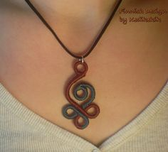 CELTIC Swan WoolWrapped Pendant On Soft by Kedikekik on Etsy, $14.00