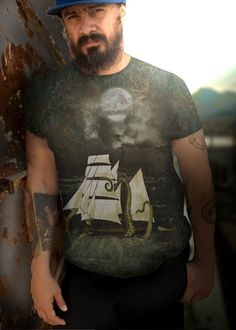 Jules Verne 10000 leagues inspired shipwreck sea monster t-shist Jules Verne, Sea Monsters, Shipwreck, Gothic, Inspired, Inspiration, Biblical Inspiration, Goth, Inspirational