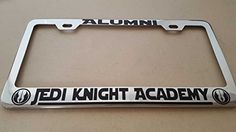 SITH ACADEMY ALUMNI STAR WARS METAL CHROME LICENSE PLATE FRAME
