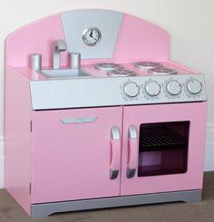 Pink Retro Toy Play Kitchen | pretend kitchens | wooden toy kitchen | kitchen toys