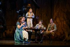 Carolee Carmello as Mae Tuck, Sarah Charles Lewis as Winnie Foster,Robert Renzi as Miles Tuck, Andrew Keenan-Bulger as Jesse Tuck in the World Premiere of Tuck Everlasting. Broadway Theatre, Musical Theatre, Broadway Shows, Tuck Everlasting Musical, Winnie Foster, Theatre Nerds, Dear Evan Hansen