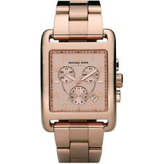 Womens Rose Gold Tone Square Quartz Day Date Chronograph Link Bracelet * You can get additional details at the image link.