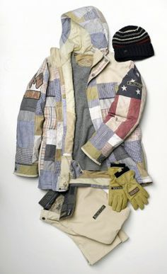 Burton Olympic snowboard jacket - inspired by an antique quilt