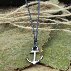 Men necklaceAnchor Necklace charm necklace lover by menbracelet, $1.99