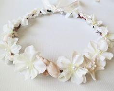 Beach Bridal Crown Turquoise Mermaid Crown by CrystaBelleCreations