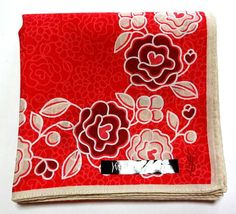 Yves Saint Laurent YSL handkerchief scarf Pocket square L Red Auth New RARE #YSLYvesSaintLaurent #DesignerArtist