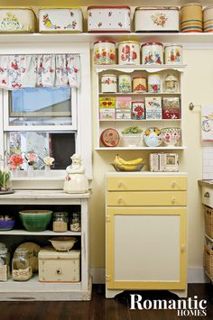 Keep your vintage kitchen collectibles on display and organized with these space-saving ideas and tips for using, repurposing and storing your collection.