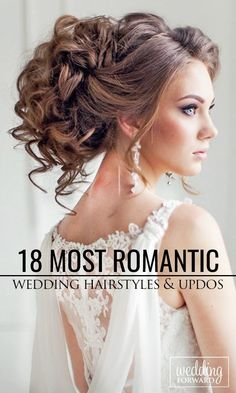 Wedding hairstyles that are totally romantic. See most popular updos and half up half down #wedding hairstyles. See more: http://www.weddingforward.com/romantic-bridal-updos-wedding-hairstyles/ #weddinghairstyles #bridalhairstyles