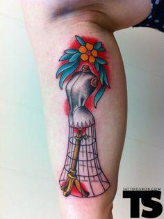 dress form tattoo