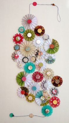 DIY::And NOW I know what to do with all that scrapbook paper.:)