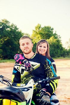 Dirt bike engagement photo