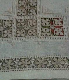 Risultati immagini per deshilados bordados Types Of Embroidery, Learn Embroidery, Ribbon Embroidery, Embroidery Patterns, Hardanger Embroidery, Cross Stitch Embroidery, Filet Crochet, Crochet Motif, Drawn Thread