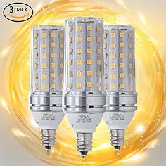E12 LED Bulbs, 12W LED Candelabra bulb 100 Watt Equivalent, 1200lm, Decorative Candle Base E12 Non-Dimmable LED Chandelier Bulbs, Warm White 3000K LED Lamp, Pack of 3 #Bulbs, #Candelabra #bulb #Watt #Equivalent, #Decorative #Candle #Base #Dimmable #Chandelier #Warm #White #Lamp, #Pack