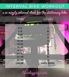 Next time you're bored with the same cardio routine, try this thirty minute interval workout on the stationary bike!