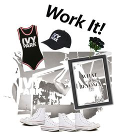 """work whatever it is"" by kayearnold on Polyvore featuring b. scott, Ivy Park, Converse and Americanflat"