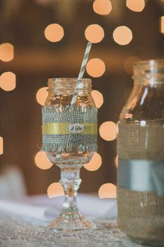 For the reception turn old mason jars into rustic wine glasses. 24 Ways To Throw A Spectacular Country Themed Wedding