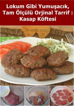 Tüm Püf Noktalarıyla : Kasap Köftesi Here is a yummy butcher meatball recipe that is soft, delicious and delicious. Baked Meat Recipes, Healthy Casserole Recipes, Meatball Recipes, Seafood Recipes, Crockpot Recipes, Turkish Recipes, Ethnic Recipes, Albondigas, Healthy Eating Tips