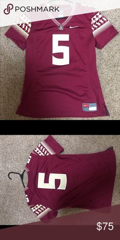 NWOT Nike Women's Florida State Jersey Small NWOT Nike Women's Florida State Jersey Small - Seminoles, Number 5. Never worn!! Nike Tops