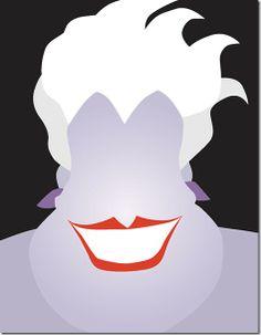 Minimalist Disney Villains (6 Posters)