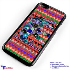 Elephant Tribal Aztec - Personalized iPhone 7 Case, iPhone 6/6S Plus, 5 5S SE, 7S Plus, Samsung Galaxy S5 S6 S7 S8 Case, and Other