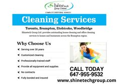 Shine Tech Group Ltd. provides outstanding house cleaning and office cleaning services to homes and businesses across the Brampton region. For more detail do not hesitate to call us today: 647-955-9532