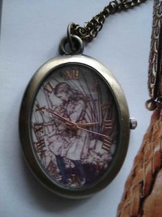 20 HOLIDAY SALE Antique Pocket Watch Necklace by Azuraccessories, $6.33