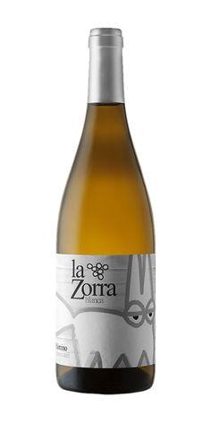 Botella de vino blanco La Zorra