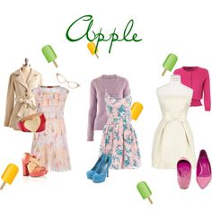 Dresses so sweet you could eat them for an Apple Shape.