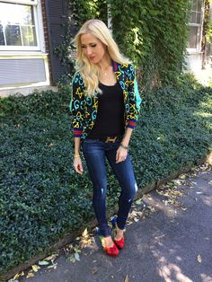 Gucci GucciGhost bomber Charlotte Olympia Shoes