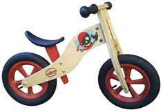 Red Toys Kindergarten-Laufrad, Scout Pirat, ab 2 Jahren, aus Holz