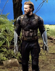 Chris Evans on set of Avengers: Infinity War