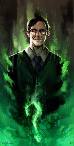 Riddle Me This by AkiMao on DeviantArt (lots of lovely art from AkiMao!!) Gotham's version of The Riddler, Edward Nygma