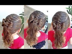 (27) Penteado Infantil com trança raíz, amarração e laço de cabelo - YouTube
