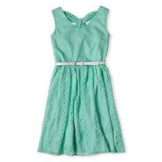 NWT Girls Disorderly Kids® Perforated Chiffon Dress in Mint Green - Size 10/12 #DisorderlyKids #DressyEveryday