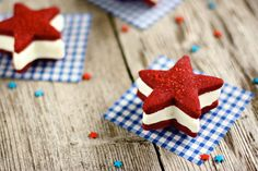 Red Velvet Ice Cream Sandwiches | 30 Ways to Rock the 4th of July