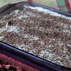 Vanilla and Chocolate Delight! I made this today for our Labor day family gathering, and it's so good. It's not the first time I've made it but it's so good, easy, and great for a crowd.