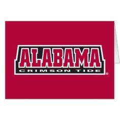Alabama Crimson Tide Card