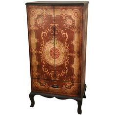 Olde-Worlde European Two Door Cabinet from Oriental Furniture