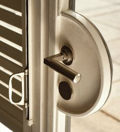 A door handle detail from Villa Tugendhat by Mies van der Rohe, 1930 (Brno, Czech Republic). / Pinterest