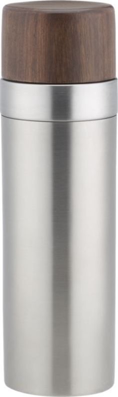 brushed stainless steel and wood #cocktail #shaker  | #CB2  This would make a great gift for any man!