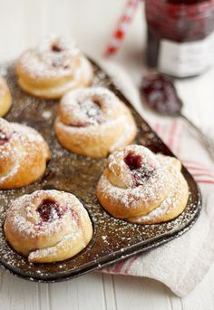 Raspberry Jam Filled Rose Buns | Seasons & Suppers