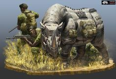 Robert-Chew-big-five-5Un illustrateur transforme les espèces menacées en drones futuristes